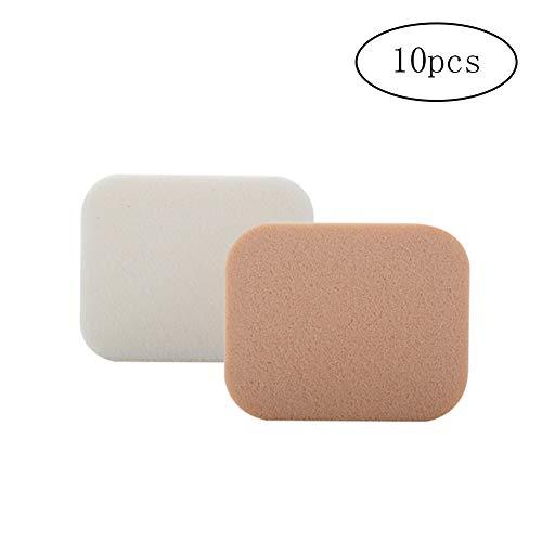 Ndier Outil de maquillage Éponge de maquillage carré feuilletée humide et sèche 10 pièces