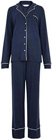 Marks & Spencer Women's 1566J F4 LSLL CM Rev Pyjama Set,