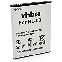 vhbw Li-Ion batería 2700mAh (3.8V) para teléfono móvil Smartphone THL 2015, 2015A por BL-08.