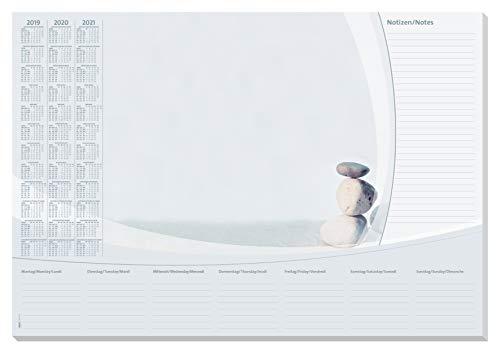 Sigel HO370 Papier-Schreibunterlage, ca. DIN A2, mit 3-Jahres-Kalender und Wochenplan, 30 Blatt - weitere Designs