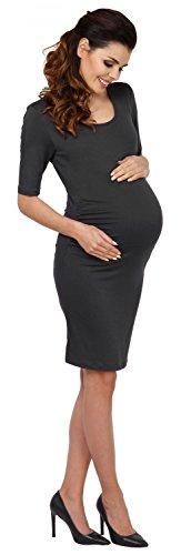 Zeta Ville - Maternité robe grossesse demi-manches près du corps - femme - 789c Graphite