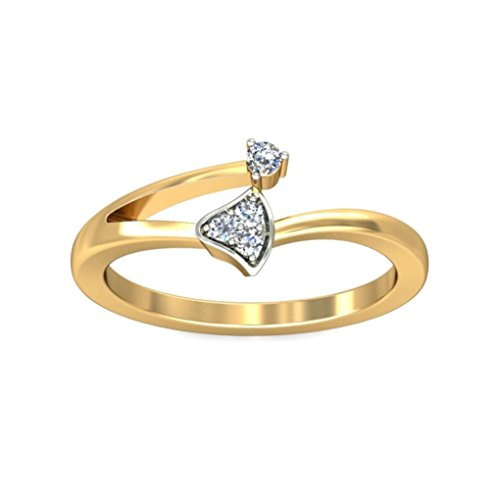 Belle Diamante 18K Gold and Diamond Ring  available at amazon for Rs.4462
