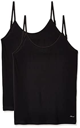 Hanes Women's Cotton Camisole (Pack of 2) (P196-002-P2_Black_Small)