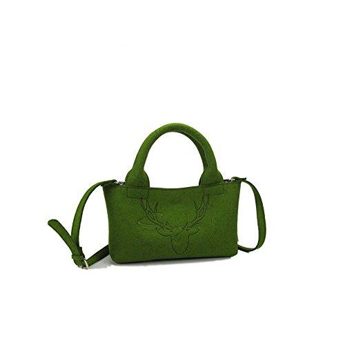 """exclusive allgaeulilie Tasche Kesselspitze """"Style"""" in Design-Wollfilz Grün"""