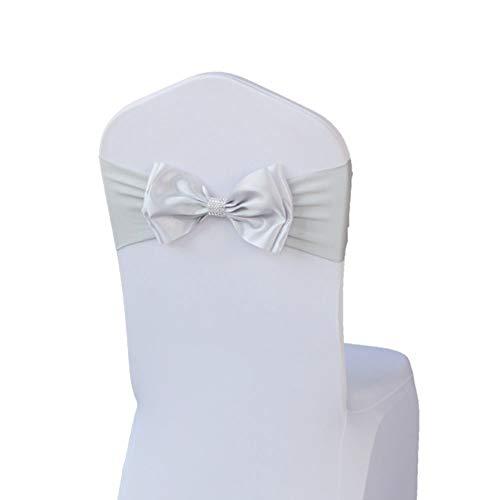 (DaoRier Stretch Stuhl Bezüge Stuhl Schärpen Mit Bogen Hochzeitsdekoration für Bankett Hochzeitstag Parteien Stuhl Dekoration)