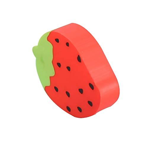 Laileya Frucht-Styling-Radiergummi-Karikatur-Wassermelone, Orange Primary School Student Geschenk Radiergummi (zufällige Farbe)