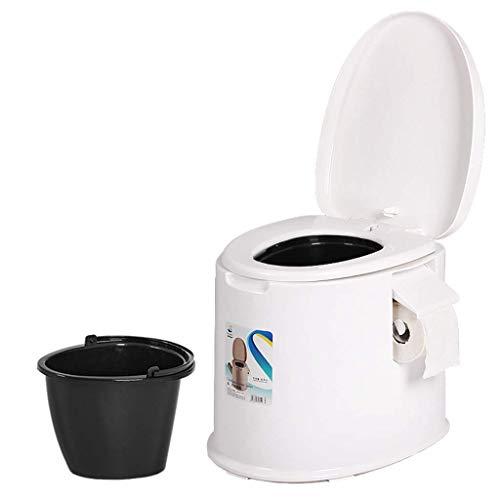 SXRNN Secchio da Campeggio Toilette WC Portatile con Porta Carta Igienica per Anziani Adulti Gita Fuori Citta