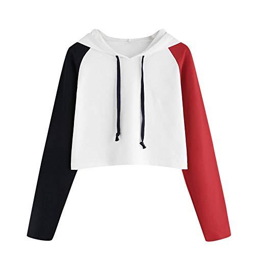 Damen Kapuzenpullover LSAltd Frauen Mädchen Mode Patchwork Pullover Strings Langarm Hoodie Sweatshirt Lässige Hit Coors Herbst Tops Chic Jumper