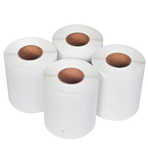 Direct Thermal Labels with 250 Labels/Roll Blank Shipping Label 100 mm x  150 mm FBA Ship - Compatible Zebra 2844 ZP-450 ZP-500 ZP-505 (4 Rolls)