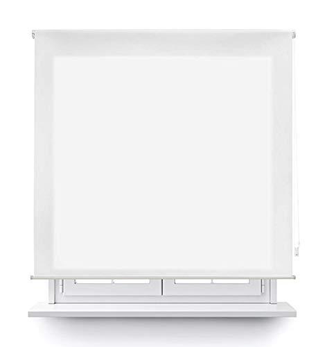 MERCURY TEXTIL Estor Enrollable translúcido Liso (Blanco, 150x180cm)