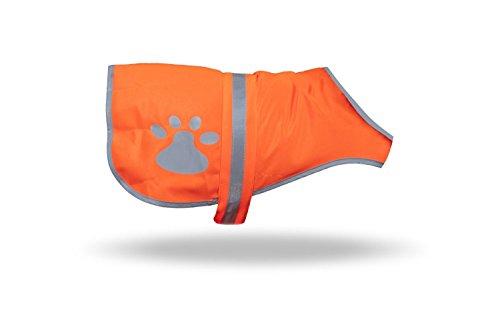 FestaPrint Reflektierende Hund Weste Safety Weste Hält Hunde auf und Off Leine in Beiden städtischen und Ländlichen Umgebungen, M, Orange -