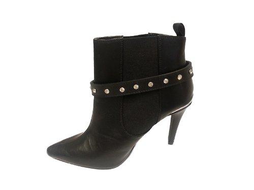 """La Loria - catena di stivali per le donne """"Rhinestone meets Rock"""" catena di scarpe, gioielli accessorio con vera pelle per abbellire le scarpe colore nero - 1 Coppia"""