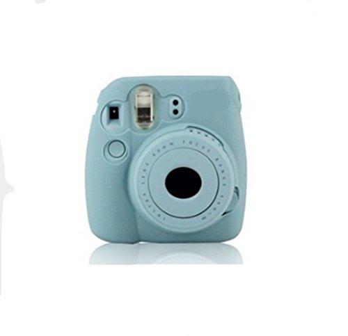 Swallowuk Silikon Tasche Case für Fujifilm Instax Mini 8 Mini 9 Instant Film Kamera Cover (Blau)