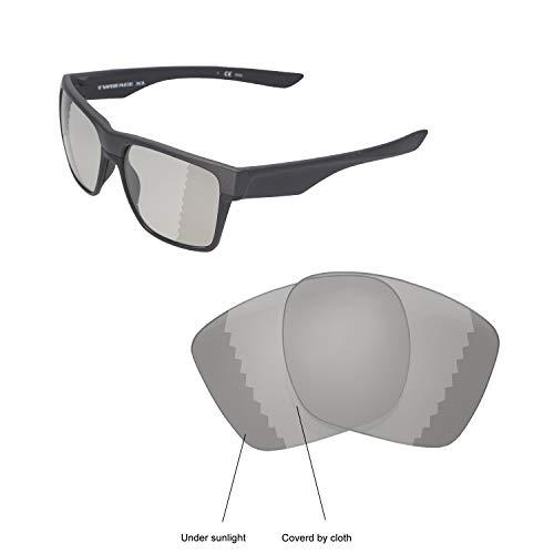 Walleva Ersatzgläser für Oakley TwoFace XL Sonnenbrille - Verschiedene Optionen erhältlich (schwarz - polarisiert), Unisex-Erwachsene, Transition/Photochromic - Polarized, Einheitsgröße