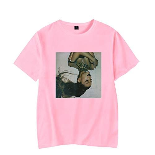 SJZQ Ariana Grande Unisex 3D Pattern Druckten Kurze Hülsen-T-Shirts T-Stücke 384514,Pink,XXS -