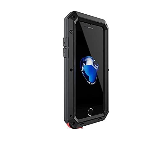 Waterproof Shockproof Aluminum Gorilla Glass Metal Cover Full-body Military Armor Protective Snowproof Dustproof Front and Back Case Cover For Apple iPhone 6S 4.7 Inch