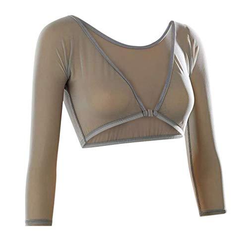 PorLous Tops, Frau 2019 Mode Sexy Mode Frauen Beide Seiten Tragen Schiere Plus Size Seamless Arm Shaper Crop Top Shirt Blusen ()