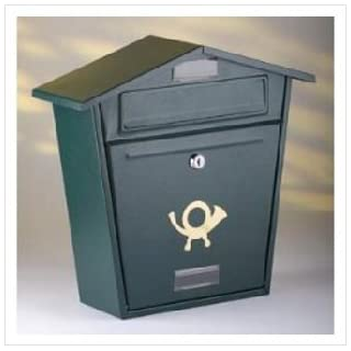 Aboria Steel Plate Post Box Black
