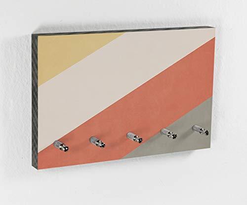 Schlüsselbrett | Canyon | Color Bars | 5 Haken | Vintage Farben | Natur | Deko Trend | Hakenleiste | Flur | Diele | Ordnung halten | Design - Wohnung-muster-design