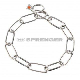 Artikelbild: Kettenhalsband Langgliedkette mit 2 Ringen Edelstahl 4 mm für Hunde bis 85 kg (54 cm)