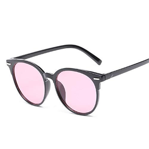 Sonnenbrille,Unisex Sommer Sonnenbrille Cat Eye Sonnenbrillen Für Frauen Männer Outdoor Schattierungen Black Frame Brille Schwarz Rosa