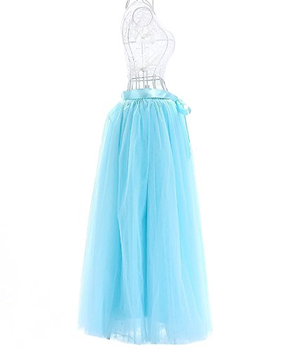 Facent adulti Tutu stratificati tulle Mini delle donne gonna di pizzo principessa Petticoat per il partito di Prom 100cm Pesca