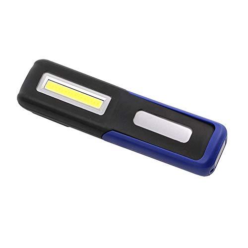KIOio Camping extérieur de Lustre magnétique de lumière de Secours de réparation de Voiture de Lampe-Torche Rechargeable d'USB (Couleur : Bleu)