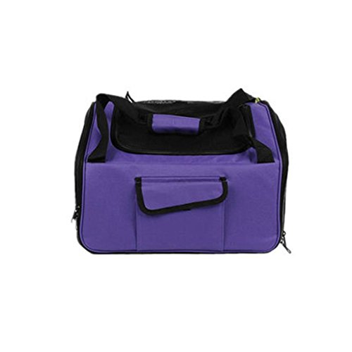 Alger gabbia di sicurezza auto del gatto del cane di archiviazione portatile può andare bagaglio a mano, purple