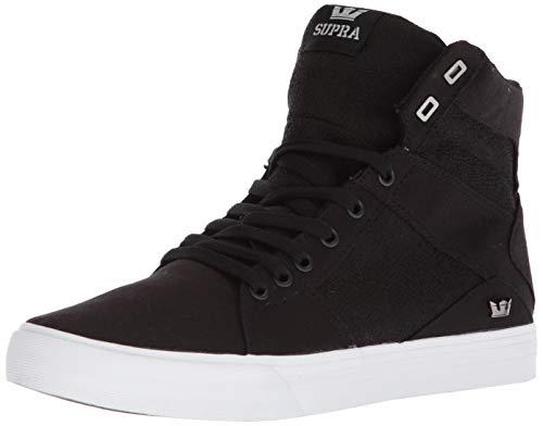 Supra Herren Aluminum Sneaker, Schwarz (Black-White), 44.5 EU (Supra)