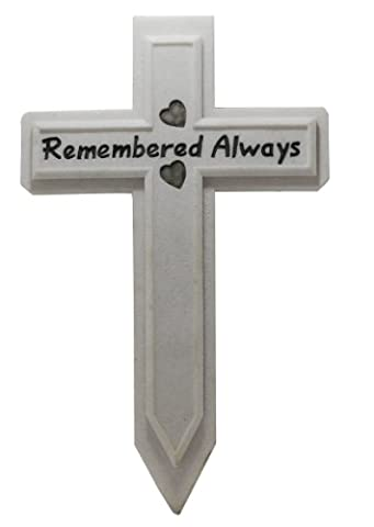 Vivid Arts RM-CT003 Remembered Always Memorial Cross - White