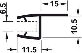 314 WrjwE6L - gedotec glastür-dichtung ducha eckdichtung para mamparas de dusch-türdichtung Longitud 2000 MM PVC transparente sellado GRUESO CRISTAL 8-10mm Calidad Marca sus Sala Estar - für Wand Abdichtung