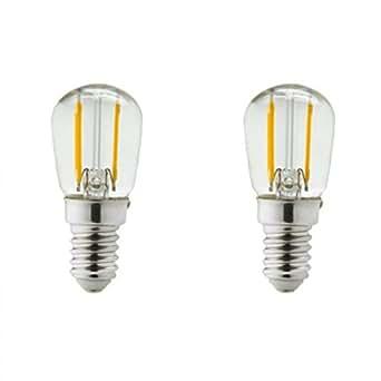 lot de 2 ampoules led e14 1 watt eq 15 watt frigo ou hotte couleur eclairage blanc. Black Bedroom Furniture Sets. Home Design Ideas