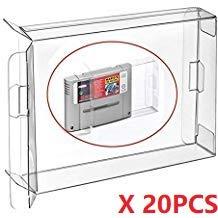 WiCareYo 20pcs EU JP carritos módulos Cajas aptas de la manga de las cajas del protector del juego para la versión estupenda de la UE JP del cartucho de para SNES Famicom