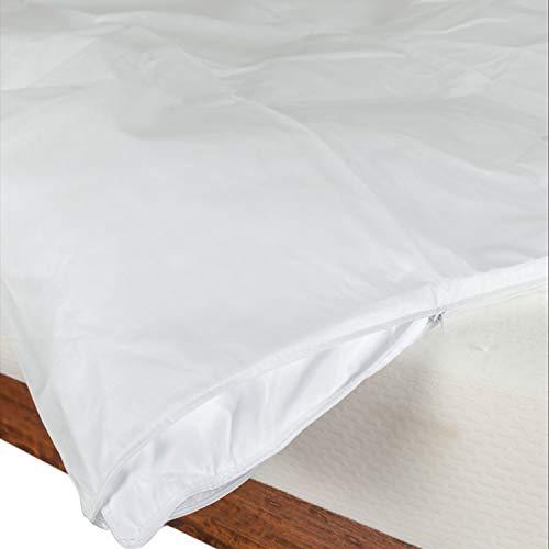 Pillow-top-king-size-matratze (Homescapes Bettdeckenschoner Schutzbezug, King Size, wasserdicht, Farbe: Weiß)