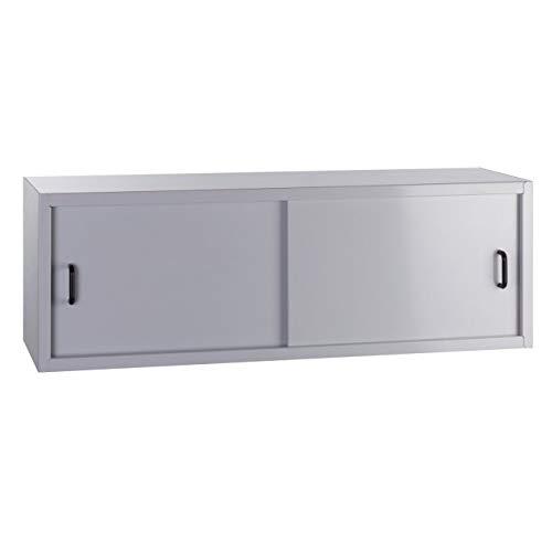 Werkstatt-Hängeschrank mit 2 Schiebetüren, BxTxH: 915x300x320 mm, RAL 7035 Lichtgrau