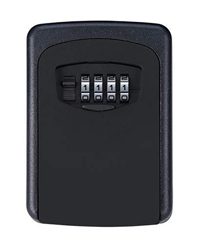 QSJi Outdoor Key Safe Box, mit 4-stelligen Zahlenschloss Wand Montiert Key Storage Organizer Boxen Home Security Lock Werkzeug Metall Schlüsselkasten (Werkzeug-organizer Storage Box)