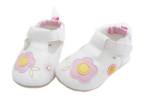 Yue Lian Baby Mädchen Schuhe Lauflernschuhe Taufschuhe Sonnnenblume Muster Rosa