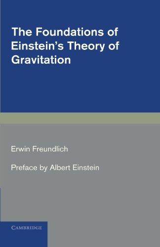The Foundations of Einstein's Theory of Gravitation by Erwin Freundlich (2011-06-30) par Erwin Freundlich