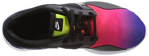 Nike Kaishi Print, Baskets Basses Fille Noir (Black/Deep Night/Fire Pink/Volt 005)
