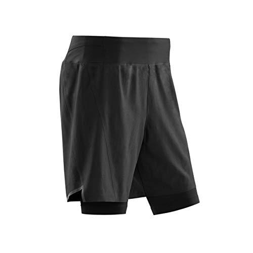 CEP - Run 2IN1 Shorts 3.0 für Herren   Kurze Sporthose mit Kompression in schwarz   Größe III