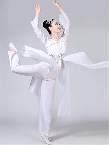 Elegante fächertanz Performance - kostüm Anzug/Tops und Hose/red / White/Ballett / national Dance Show Kleid