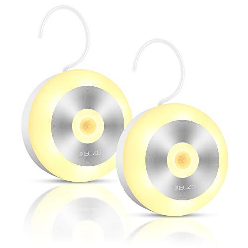 ELZO Luces LED, Luz de Noche Armario con Sensor Movimiento, Luz Nocturna Recargable, Luz...