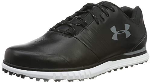 Under Armour Zapato UA Showdown SL Golf para Hombre, Negro (Black/Black/Steel (001) 001), 43 EU º