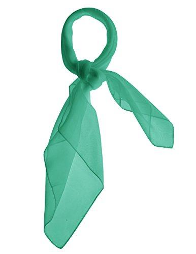 Dresstells Damen Chiffon Nickituch Bandana Halstuch Schals Kopftuch Gr.65 cm x 65 cm Green