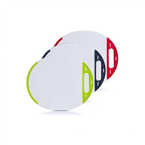 Zeller 1 Schneidebrett oval, 27x23cm, Kunststoff, Frühstücksbrett, Vesperbrett, in 3 Farben (Rot)