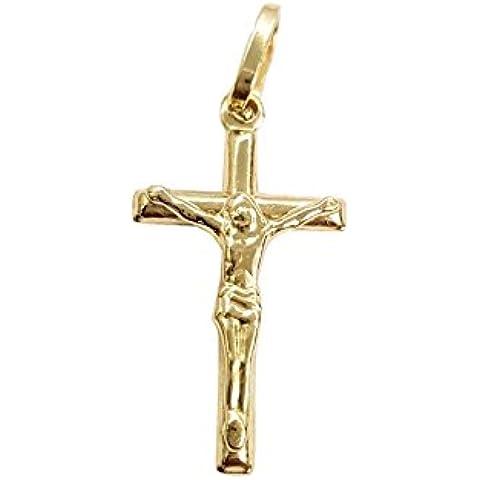 Ciondolo Croce - Crocifisso oro Giallo 18 kt 750/000 2,0cm x 1,0cm - 18k Crocifisso
