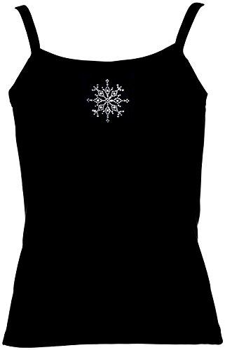 Fun Shirt Winterzeit grosse Schneeflocke Wintermotiv Pink