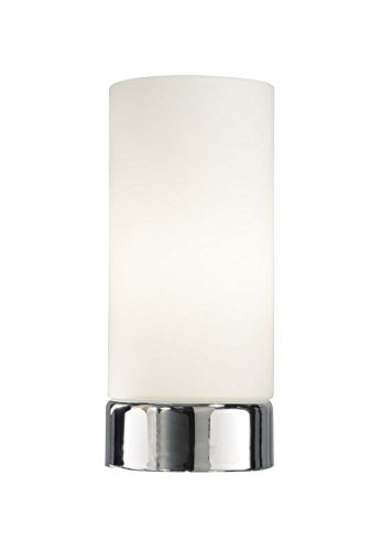 Owen Round Glass Touch Table Lamp with Shade