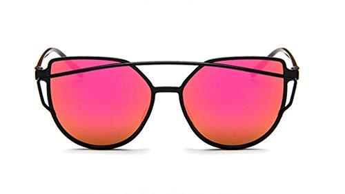 WSKPE Sonnenbrille Cat Eye Frauen Männer Getönte Farbe Objektiv Sonnenbrille Rote Linse