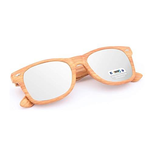 d70527d218 ISURF EYEWEAR Occhiali da Sole Modello Blues Brothers Effetto Legno  Specchio SPECCHIATI Outfit ...
